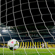 Fenerbahce's scores during their Turkish superleague soccer derby Fenerbahce between Besiktas at the Sukru Saracaoglu stadium in Istanbul Turkey on Sunday 22 March 2015. Photo by Aykut AKICI/TURKPIX