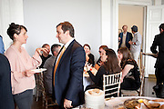 GREGOR MUIR, Pablo Bronstein, Sketches for Regency Living. Discussion and lunch. ICA. The Mall. London. 7 June 2011. <br /> <br />  , -DO NOT ARCHIVE-© Copyright Photograph by Dafydd Jones. 248 Clapham Rd. London SW9 0PZ. Tel 0207 820 0771. www.dafjones.com.