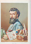 Andreas Vesalius [Andres Vesale] (31 December 1514 – 15 October 1564) was a 16th-century Flemish anatomist, physician, and author of one of the most influential books on human anatomy, De Humani Corporis Fabrica Libri Septem (On the Fabric of the Human Body). Vesalius is often referred to as the founder of modern human anatomy. Andreas Vesalius is the Latinized form of the Dutch Andries van Wesel. From the book La ciencia y sus hombres : vidas de los sabios ilustres desde la antigüedad hasta el siglo XIX T. 2  [Science and its men: lives of the illustrious sages from antiquity to the 19th century Vol 2] By by Figuier, Louis, (1819-1894); Casabó y Pagés, Pelegrín, n. 1831 Published in Barcelona by D. Jaime Seix, editor , 1879 (Imprenta de Baseda y Giró)
