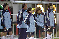 Fotball<br /> Kvalifisering til VM 2006<br /> 15.11.2003<br /> Argentina v Bolivia 3-0<br /> Foto: Digitalsport<br /> Norway Only<br /> <br /> MILITO - SAVIOLA - SORIN and SOLARI