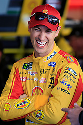 March 23, 2019 - Martinsville, VA, U.S. - MARTINSVILLE, VA - MARCH 23:  #22: Joey Logano, Team Penske, Ford Mustang Shell Pennzoil looks on during practice for the STP 500 Monster Energy NASCAR Cup Series race on March 23, 2019 at the Martinsville Speedway in Martinsville, VA.  (Photo by David J. Griffin/Icon Sportswire) (Credit Image: © David J. Griffin/Icon SMI via ZUMA Press)