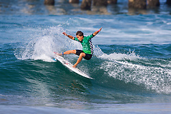 Joh Azuchi (JPN) advances to Round 2 of the 2018 VANS US Open of Surfing after placing second in Heat 3 of Round 1 at Huntington Beach, California, USA.