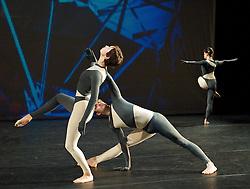 Nearly Ninety<br /> The Merce Cunningham Dance Company <br /> choreography by Merce Cunningham<br /> at The Barbican Theatre, London, Great Britain <br /> rehesrsal <br /> 26th October 2010 <br /> <br /> <br /> <br /> Marcie Munnerlyn <br /> Silas Riener<br /> Emma Desjardins<br /> <br /> <br /> <br /> Photograph by Elliott Franks<br /> 2010©Elliott Franks