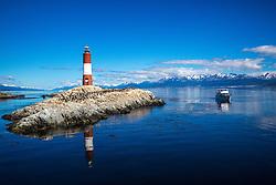 Farol Les Eclaireurs mais conhecido por Farol do Fim do Mundo no Canal de Beagle, na região de Ushuaia, Argentina. FOTO: Jefferson Bernardes/ Agência Preview