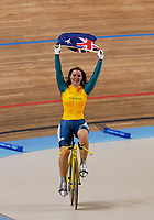 Anna Meares (Australia) celebrates winning the Womens 500m Time Trial,  Cycling,Athens Olymics,  20/08/2004. Credit: Colorsport / Matthew Impey DIGITAL FILE ONLY