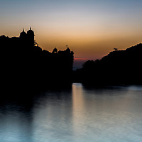 A still and silent moment on Lake Pichola as dawn begins to break.