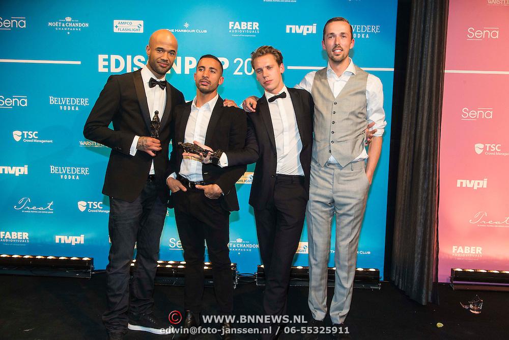 NLD/Amsterdam//20140331 - Uitreiking Edison Pop 2014, Mr. Probz en the Opposites