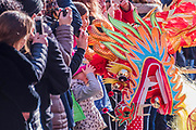 Chinese New Year Celebrations in London 2018 marking the arrival of the Year of the Dog. The Event started with a Grand Parade from the North East side of the Trafalgar Square and finishing in Chinatown at Shaftesbury Avenue. It was organised by London Chinatown Chinese Association and is supported by The Mayor of London and Westminster City Council.