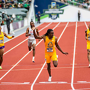 June 11, 2021 Eugene, OR  U.S.A. LSU  Randolph Ross wins the 400m race during the NCAA division 1 mens and womens track and field outdoor championship at Hayward Field Eugene, OR. Thurman James / CSM