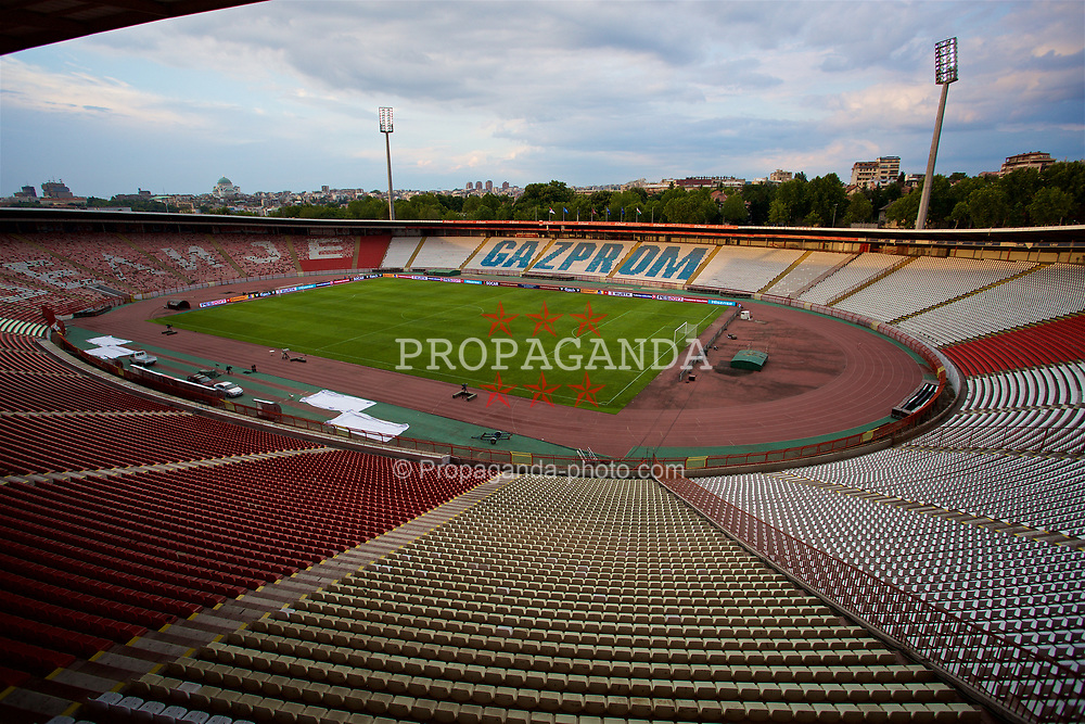 BELGRADE, SERBIA - Saturday, June 10, 2017: A general view of the Red Star Stadium ahead of the 2018 FIFA World Cup Qualifying Group D match between Serbia and Wales. (Pic by David Rawcliffe/Propaganda)