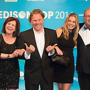 NLD/Amsterdam//20140331 - Uitreiking Edison Pop 2014, Henny Kortland, Dennis van der Haagen, Alice Willems, Daniel Dekker