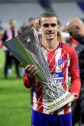 May 16, 2018 - Lyon, France, France - joie des joueurs de l Atletico Madrid.Antoine Griezmann (Atletico)  avec le trophee (Credit Image: © Panoramic via ZUMA Press)