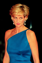 Princess Diana on an official visit to Australia. Half Length.