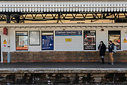 Clapham Junction is quiet during rush hour, but in some areas there are srill plenty of passengers - The first day of the 'lockdown' in Clapham - Anti Coronavirus (Covid 19) outbreak in London.