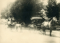 1910 Carriages on Hollywood Blvd.