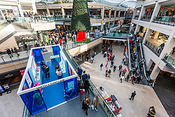 © Licensed to London News Pictures. 22/12/2018. Leeds UK. Super Saturday Christmas shoppers in Trinity shopping centre in Leeds today. Retailers are hoping for a surge in sales this weekend as shoppers switch from ordering online to hitting the high street for last-minute Christmas purchases.  About £1.4bn is expected to be spent in stores on Saturday alone. Photo credit: Andrew McCaren/LNP