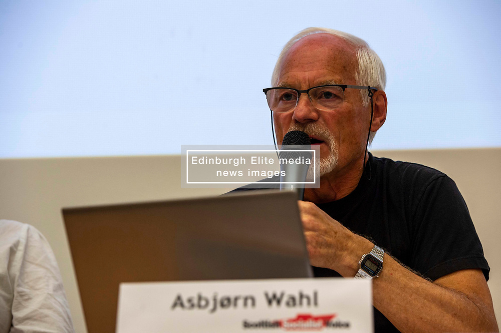Pictured: Asbjørn Wahl<br /><br />Delegates welcomed panalists Eva, Schornveld, Extinction Rebellion; Colin Fox and Róisín McLaran, Scottish Socialist Party and Asbjørn Wahl a climate activist from Norway to assess how tackling climate change can be done in ways which benefit working-class people and their communities.<br /><br />Eva Schonveld Extintion Rebellion<br /><br />Colin Fox is the national co-spokesperson of the Scottish Socialist Party and a former Member of the Scottish Parliament for the Lothians.<br /><br />Róisín McLaren is the national co-spokesperson of the Scottish Socialist Party. At 24, she is the youngest leader of any UK political party in history.<br /><br />Asbjørn Wahl is a Norwegian researcher and author. He is currently the director of the Campaign for the Welfare State, an adviser for the Norwegian Union of Municipal and General Employees, and the Vice President of the Road Transport Workers' Section of the International Transport Workers' Federation.<br /><br /><br />Ger Harley   EEm 29 June 2019