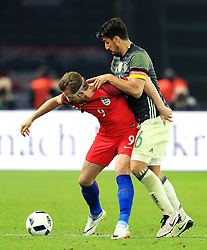 Englands Harry Kane battles with Germanys Sami Khedira - Mandatory by-line: Matt McNulty/JMP - 26/03/2016 - FOOTBALL - Olympiastadion - Berlin, Germany - Germany v England - International Friendly