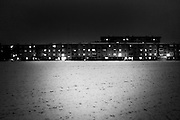 """a snowy meadowland with building.<br /> The shadow line is a trip, a trip losing myself, looking for myself.<br /> Like the romance """"the shadow line"""" by Joseph Conrad (1917).<br /> I was in Italy, England, Bosnia, Montenegro, Serbia..<br /> It isn't a reportage, it isn't a story.<br /> It is a searching.."""