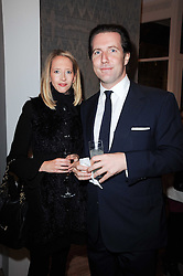 The HON.FLORA HESKETH and JONATHAN GOODWIN at the opening of Luke Irwin's showroom at 22 Pimlico Road, London SW1 on 24th November 2010.