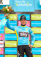 Podium, Lars Petter NORDHAUG (Nor) SKY, Blue Leader Jersey during the 1th Tour of Yorkshire 2015, in England,  Stage 2, Selby - York (174Km), on May 2, 2015. Photo Tim de Waele / DPPI
