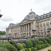 The front of the main building of the Royal Palace of Brussels, the official palace of the Belgian royal family.