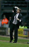 Photo: Steve Bond.<br />Derby County v Luton Town. Coca Cola Championship. 20/04/2007. More instructions from Billy Davies