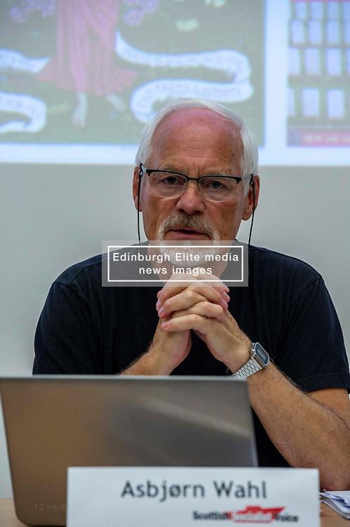 Pictured: Asbjørn Wahl<br /><br />Delegates welcomed panalists Eva, Schornveld, Extinction Rebellion; Colin Fox and Róisín McLaran, Scottish Socialist Party and Asbjørn Wahl a climate activist from Norway to assess how tackling climate change can be done in ways which benefit working-class people and their communities.<br /><br />Eva Schonveld Extintion Rebellion<br /><br />Colin Fox is the national co-spokesperson of the Scottish Socialist Party and a former Member of the Scottish Parliament for the Lothians.<br /><br />Róisín McLaren is the national co-spokesperson of the Scottish Socialist Party. At 24, she is the youngest leader of any UK political party in history.<br /><br />Asbjørn Wahl is a Norwegian researcher and author. He is currently the director of the Campaign for the Welfare State, an adviser for the Norwegian Union of Municipal and General Employees, and the Vice President of the Road Transport Workers' Section of the International Transport Workers' Federation.<br /><br /><br />Ger Harley | EEm 29 June 2019