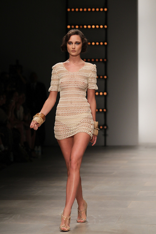 Models walk the runway for the SS 2012 Mark Fast fashion show held during London Fashion Week in London, UK.