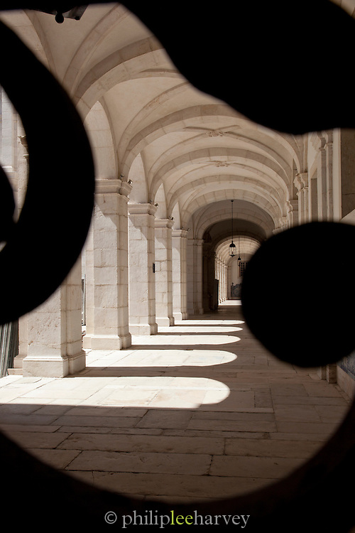 The cloisters at the Monastery of Sao Vicente de Fora, Lisbon, Portugal