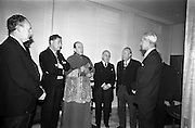 11/02/1963<br /> 02/11/1963<br /> 11 February 1963<br /> Official opening and Blessing of the National Medical Rehabilitation Centre, Our Lady of Lourdes Hospital, Rochestown Avenue, Dun Laoghaire, Co. Dublin. Noel Burke, (2nd from left), Archbishop John C. McQuaid and the Tanaiste, Sean MacEntee at the opening.