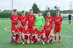 NEWPORT, WALES - Wednesday, August 3, 2016: North Wales Academy Boys during the Welsh Football Trust Cymru Cup 2016 at Newport Stadium. (Pic by Ian Cook/Propaganda)