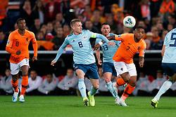 10-10-2019 NED: Netherlands - Northern Ireland, Rotterdam<br /> UEFA Qualifying round Group C match between Netherlands and Northern Ireland at De Kuip in Rotterdam / Steven Davis #8 of Northern Ireland, Steven Bergwijn #7 of the Netherlands