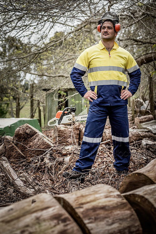 Ryan Buchanan models Stubbies workwear in support of Movember.<br /> Photography commissioned by Lassoo Media/PR for a social media campaign.