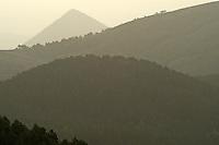 Panorama view at sunrise, Basilicata/Calabria, Pollino National Park, Italy. November 2008. Mission: Pollino National Park