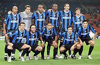 "FC Inter<br /> Up: Olivier Dacourt, Julio Cesar, Maicon, Patrick Vieira, Marco Materazzi, Javier Zanetti<br /> Bottom: Dejan Stankovic, Alvaro Recoba, Ivan Ramiro Cordoba, Luis Madiera Figo, Julio Ricardo Cruz<br /> Champions League 2006/07 Group Stage Group B <br /> 18 Oct 2006 (match day 3)<br /> Inter-Spartak Mosca 2-1<br /> ""Giuseppe Meazza"" Stadium-Milano-Italy<br /> Photographer Luca Pagliaricci Inside"