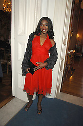 Singer GENA WEST at a party to celebrate the publication of Dell'Olio's book 'My Beautiful Game' held at the Italian Embassy, Grosvenor Square, London on 17th April 2008.<br /><br />NON EXCLUSIVE - WORLD RIGHTS