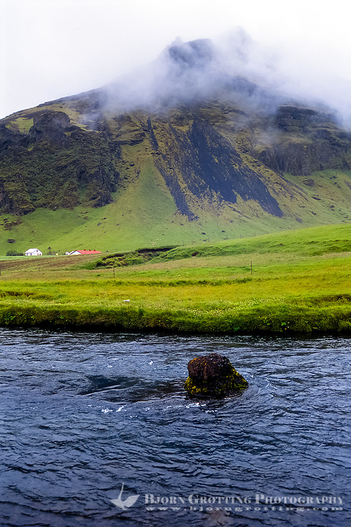 Iceland. Skógar is a small village located at the south of the Eyjafjallajökull glacier.