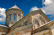 Pictures & images of Georgian Classica style church at The Monastery of St. Nino at Bodbe,  a Georgian Orthodox monastic complex and the seat of the Bishops of Bodbe, Sighnaghi, Kakheti, Georgia. .<br /> <br /> Visit our MEDIEVAL PHOTO COLLECTIONS for more   photos  to download or buy as prints https://funkystock.photoshelter.com/gallery-collection/Medieval-Middle-Ages-Historic-Places-Arcaeological-Sites-Pictures-Images-of/C0000B5ZA54_WD0s<br /> <br /> Visit our REPUBLIC of GEORGIA HISTORIC PLACES PHOTO COLLECTIONS for more photos to browse, download or buy as wall art prints https://funkystock.photoshelter.com/gallery-collection/Pictures-Images-of-Georgia-Country-Historic-Landmark-Places-Museum-Antiquities/C0000c1oD9eVkh9c