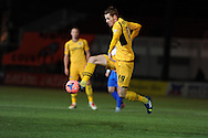 Tom Naylor of Newport county in action. FA cup with Budweiser, 1st round replay, Newport county v Braintree Town at Rodney Parade in Newport, South Wales on Tuesday 19th November 2013. pic by Andrew Orchard, Andrew Orchard sports photography,