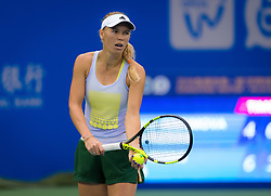 September 22, 2018 - Caroline Wozniacki of Denmark practices at the 2018 Dongfeng Motor Wuhan Open WTA Premier 5 tennis tournament (Credit Image: © AFP7 via ZUMA Wire)
