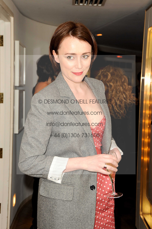 KEELEY HAWES at a party to promote Marie Claire magazine Inspire & Mentor Campaign held at The Loft, The Ivy Club, West Street, London on 30th March 2010.