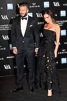 David Beckham, Victoria Beckham, Alexander McQueen: Savage Beauty Fashion Gala, Victoria & Albert Museum, London UK, 12 March 2015, Photo by Richard Goldschmidt