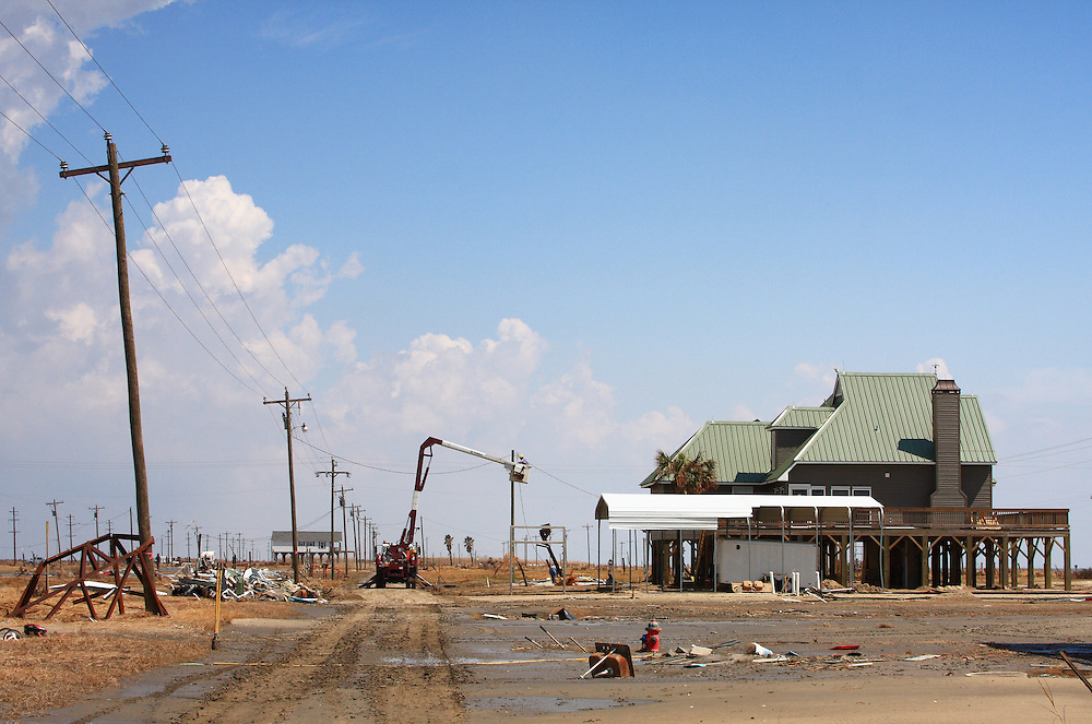 Holly Beach, LA 9/08 (Ike)<br /> McMansion in the Sahara
