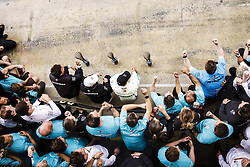 May 13, 2018 - Barcelona, Spain - Motorsports: FIA Formula One World Championship 2018, Grand Prix of Spain, .Toto Wolff (AUT, Mercedes AMG Petronas Motorsport), #77 Valtteri Bottas (FIN, Mercedes AMG Petronas Motorsport), #44 Lewis Hamilton (GBR, Mercedes AMG Petronas Motorsport) (Credit Image: © Hoch Zwei via ZUMA Wire)