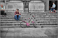 SERIES - DAY-TRIPPER SIRACUSA - by Paul Williams - Day Tripper - Siracusa Sicily is a selective colour street photography series by photographer Paul Williams showing the people of Siracusa enjoying their evening passagiata in the duomo square. Taken in  2009 .<br /> <br /> Visit our DAY TRIPPER PHOTO COLLECTIONS for more photos to buy as buy as wall art prints https://funkystock.photoshelter.com/gallery-collection/DAY-TRIPPER-Street-Art-Photography-Series-by-Photographer-Paul-Williams/C0000JflvyZIhabE .<br /> <br /> Visit our REPORTAGE & STREET PEOPLE PHOTO ART PRINT COLLECTIONS for more wall art photos to browse https://funkystock.photoshelter.com/gallery-collection/People-Photo-art-Prints-by-Photographer-Paul-Williams/C0000g1LA1LacMD8
