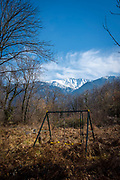 "Abandoned swing beneath a mountain, France This mage can be licensed via Millennium Images. Contact me for more details, or email mail@milim.com For prints, contact me, or click ""add to cart"" to some standard print options."