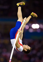 Renaud Lavillenie of France competes in the men's Pole Vault Final during day eight of the 12th IAAF World Athletics Championships at the Olympic Stadium on August 22, 2009 in Berlin, Germany. (Photo by Vid Ponikvar / Sportida)