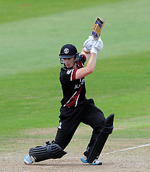 Somerset's Tom Abell cuts the ball - Photo mandatory by-line: Harry Trump/JMP - Mobile: 07966 386802 - 29/07/15 - SPORT - CRICKET - Somerset v Durham - Royal London One Day Cup - The County Ground, Taunton, England.