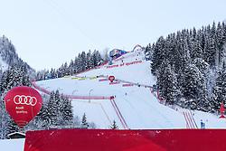 20.01.2017, Hahnenkamm, Kitzbühel, AUT, FIS Weltcup Ski Alpin, Kitzbuehel, Super G, Herren, Flower Zeremonie, im Bild Übersicht auf den Hausberg // Overview Hausberg during the Flower ceremony for the men's SuperG of FIS Ski Alpine World Cup at the Hahnenkamm in Kitzbühel, Austria on 2017/01/20. EXPA Pictures © 2017, PhotoCredit: EXPA/ SM<br /> <br /> *****ATTENTION - OUT of GER*****